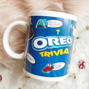 Vintage Nabisco Oreo Cookie Trivia Coffee Mug